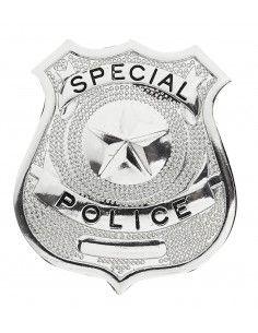 Chapa de policía metálica...