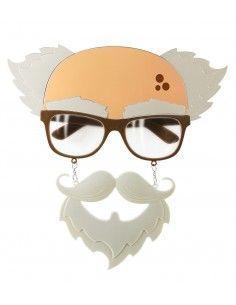 Gafas de anciano con bigote...