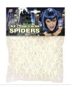 Bolsa 42 arañas fluorescentes