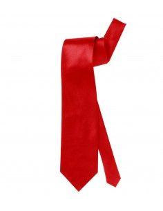 Corbata roja de raso